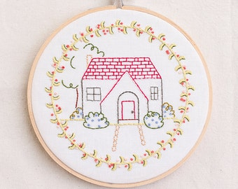 Happy Home PDF Hand Embroidery Pattern