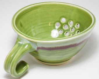 Pottery Colander - Berry Bowl - Drainer Dish - Colander - Strainer - Berry Colander - Ceramic Strainer - Berry Basket Clay - In Stock