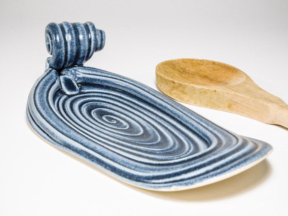 Ceramic Spoon Rest Handmade Spoonrest Spoon Rest Ceramic