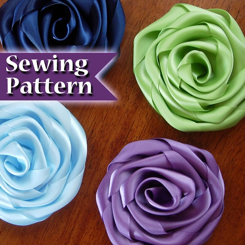 Fabric Flower Pattern  How to Make Fabric Flowers  Fabric image 0
