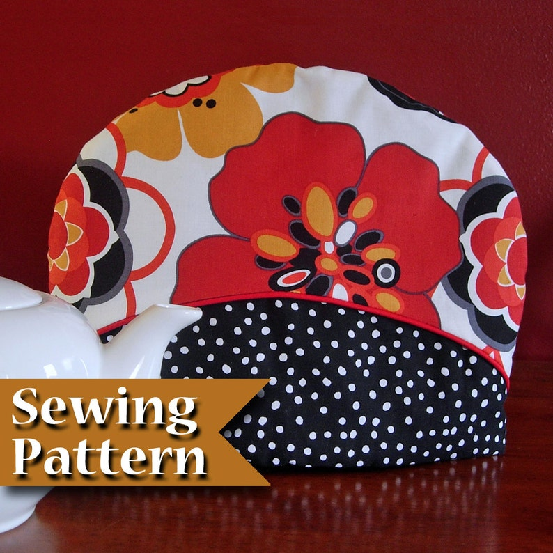 Tea cosy sewing pattern  DIY  Teapot cozy pattern  Instant image 0
