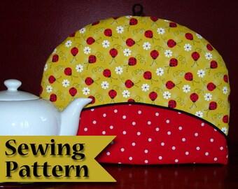 Tea cosy sewing pattern | DIY | Tea cozy pattern | Make your own | PDF tutorial | Instant download | Teapot cozy | Tea pot cover