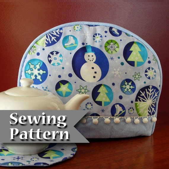 Cozy Fit tea cozy pattern by  Paisley Pincushion