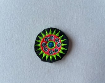 Set of 10, Round Untrimmed, Hmong, Patch, crafting, quilting, patches, craft, hill tribe, stars, sewing, kid, circle, embroidery