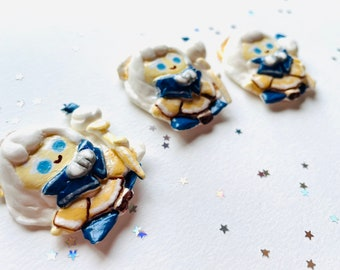 Random Happy Cookie Box: CREAM PUFF Cookie Run Kingdom Cookies Clay Figurine 2.5D Fanart Fan Art Choux Creme Random Box With Card