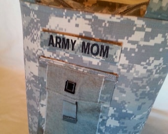 Army Mom purse Personalized ACU Handbag - gift for mom - Army wife handmade bag - gift for her - gift for sister - custom Army handbag