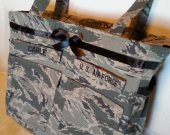Handmade custom Air Force diaper bag camo diaper bag Daddy diaper bag gift for him handmade personalized custom gift for her ABU