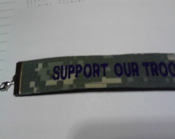 Jewelry gift for women- Army bracelet - Support  our troops - for her gift for her colorful Army bracelet