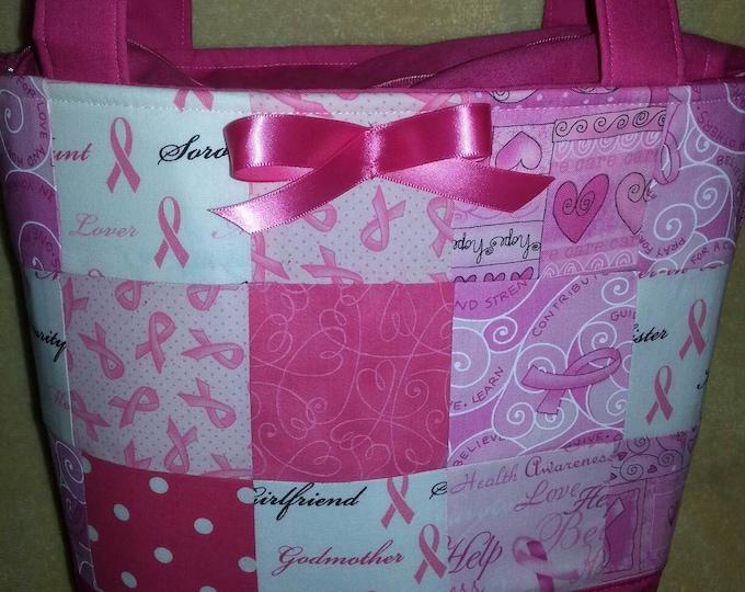 Pink Cancer Survivor Purse Handmade
