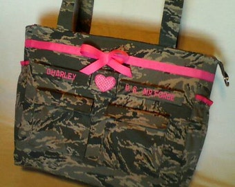 Air Force diaper bag camo diaper bag custom made for you choice of colors trims words best military diaper bag air force diaper bag camo