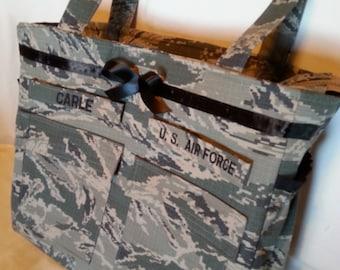 Handmade custom Air Force diaper bag camo diaper bag Daddy diaper bag gift for him handmade personalized custom gift for her ABU