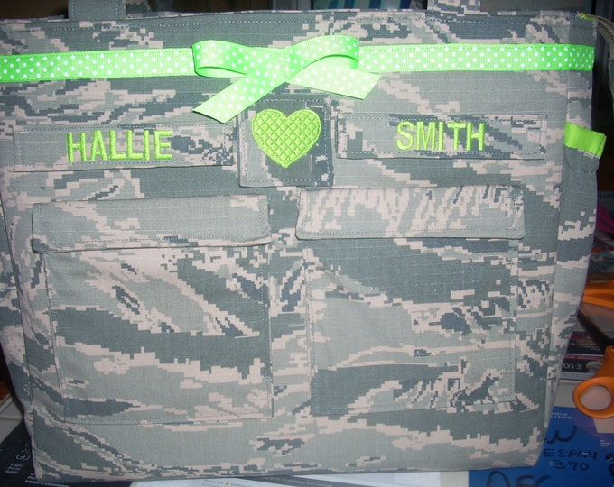 Gift for her gift for him Air Force trend Diaper bag custom made for you your choice color for lining embroidery trims custom embroidery