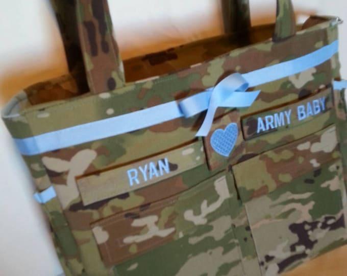 Unique Camo Army diaper bag handmade custom bag your choice color(s)  embroideries  trims  You design the bag i make the bag makersgonnamake