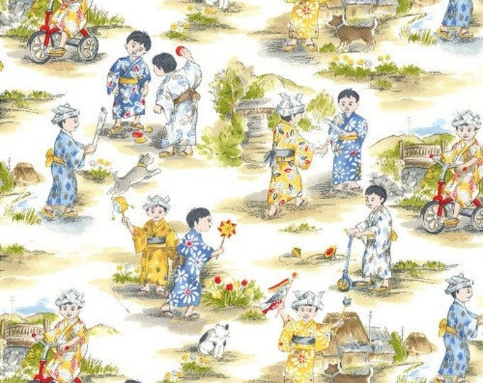 Children's Fabric, Michael Miller Asian Retro Children 44-45 inches wide cotton fabric