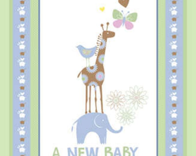 New Baby Flanel Panel Designed by Fresh Designs for Henry Glass 23'' x 43''