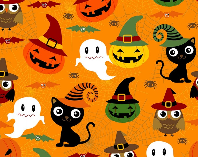 ADORABLE SPOOKS HALLOWEEN, Cotton Fabric 44 Inches wide by David Textiles