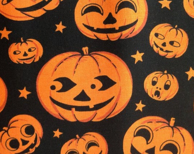 PUMPKIN HEAD HALLOWEEN, Cotton Fabric by Michael Miller 44 inches Wide