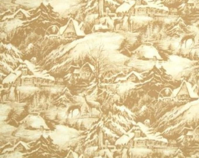 Out Of Print Fabric, Snowy Eve Cotton Fabric by Sentimental Studios for Moda