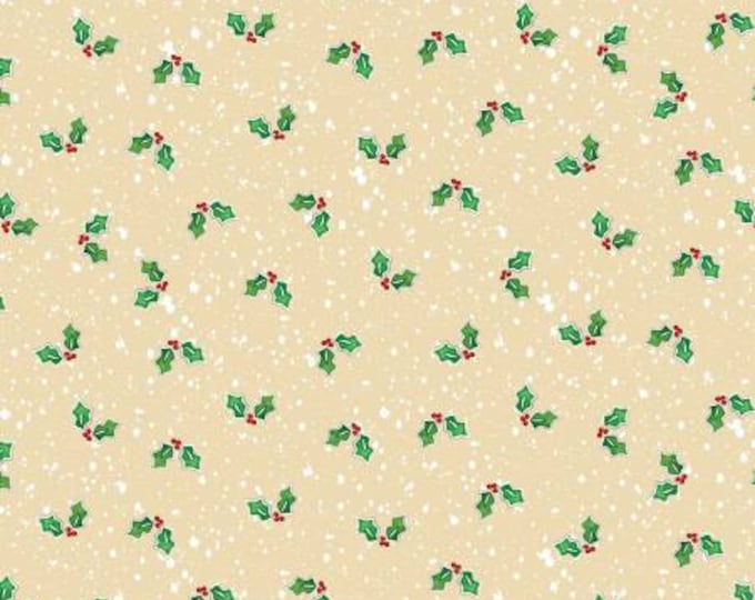 Christmas Holiday Happy Snowmen Holly Fabric by Benartex 44 inches wide
