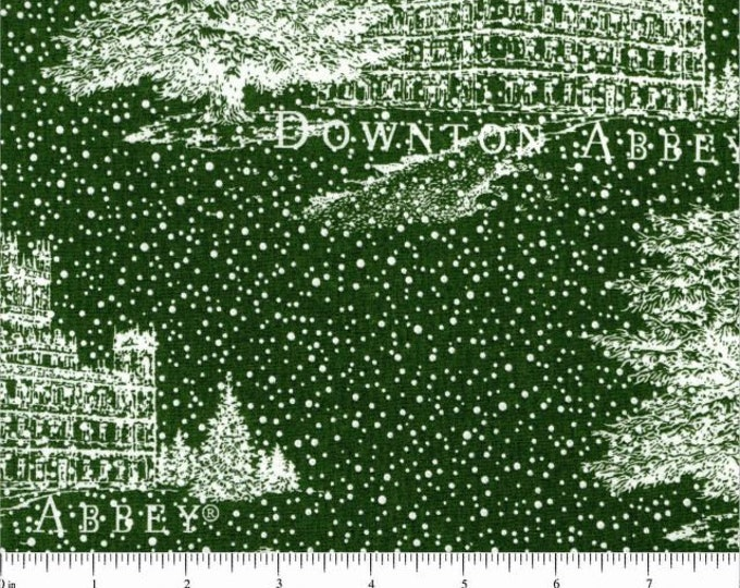 HOLIDAY DOWNTON ABBEY, Cotton Holiday Fabric by Andover 43 Inches