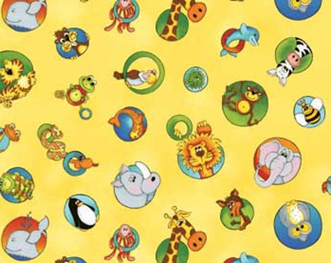 A IS FOR, Animal Children's Alphabet Fabric  by Kathy Brown for Red Rooster Fabrics