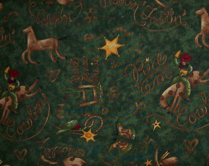 RODEO WESTERN FABRIC by Debbie Mumm for South Seas Imports 44 inches wide