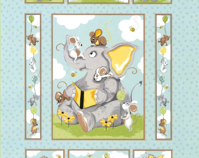 SUSYBEE KNIGHTLEY FABRIC Panel, Children's Cotton Panel by Susybee 35 x 43 inches
