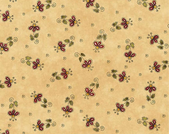 Outdoor Nature Fabric, Woodland Fabric, Flower Fabric,  Why Fabric Line Children's Fabric by Leanne Anderson