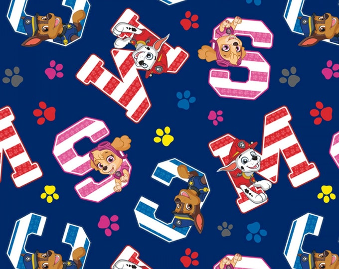 PAW PATROL, Favorite Pups Children's Cotton Fabric 44 inches wide