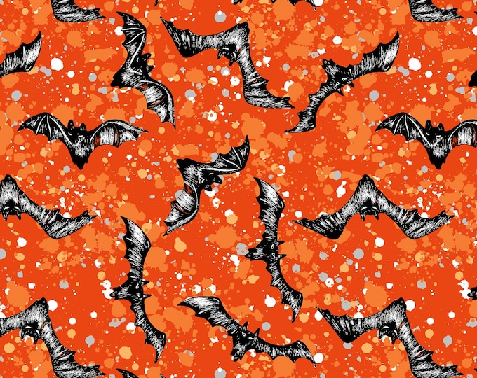 SPOOKY NIGHT BATS, Halloween Cotton Fabric 43 Inches Wide by Quilter's Pallette