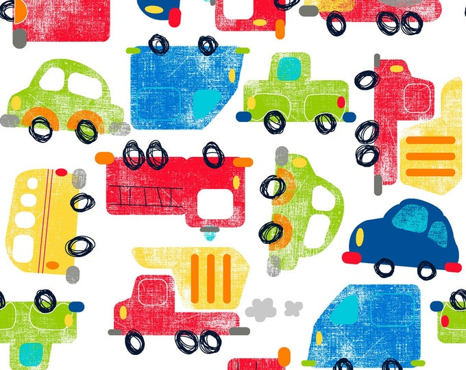 TRAVEL CHILDREN'S FABRIC,  Cotton fabric 44-45 inches wide by Fabric Editions