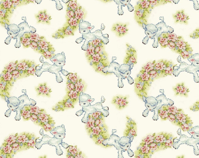 THAT'S MY BABY, Lamb Cotton Children's Fabric by Sara Morgan for Washington Street Studios