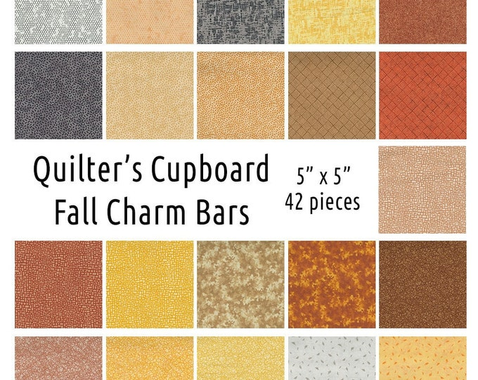 FALL CHARM BAR, Quilter's Sweet Shop 5 Inch Squares 42 Pieces