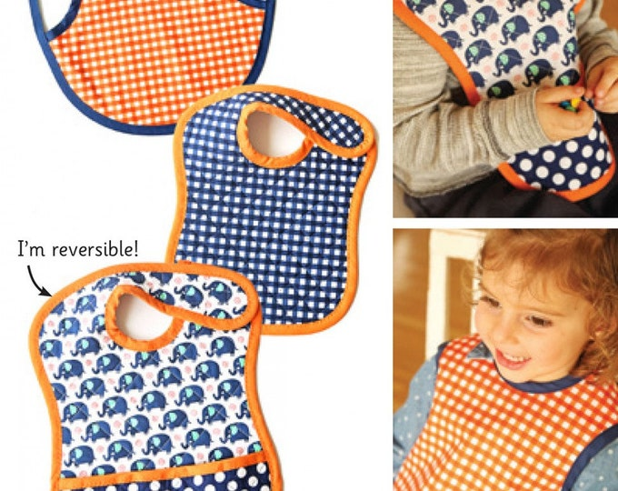 BABY BIB PATTERN, Tiny Tots Reversible Baby Bib Pattern from Indigo Junction