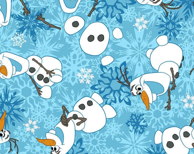 Olaf fabric from Disney Frozen, Olaf cotton flannel from Springs Creative