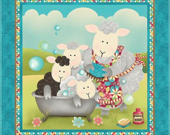 SPLISH SPLASH COTTON Panel by Sandy Lee for Henry Glass 24 x 44 Inches