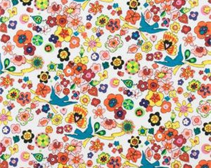 FOLKLORICO LUPE FABRIC, Cotton Fabric in Natural/Multi by Alexander Henry Fabric