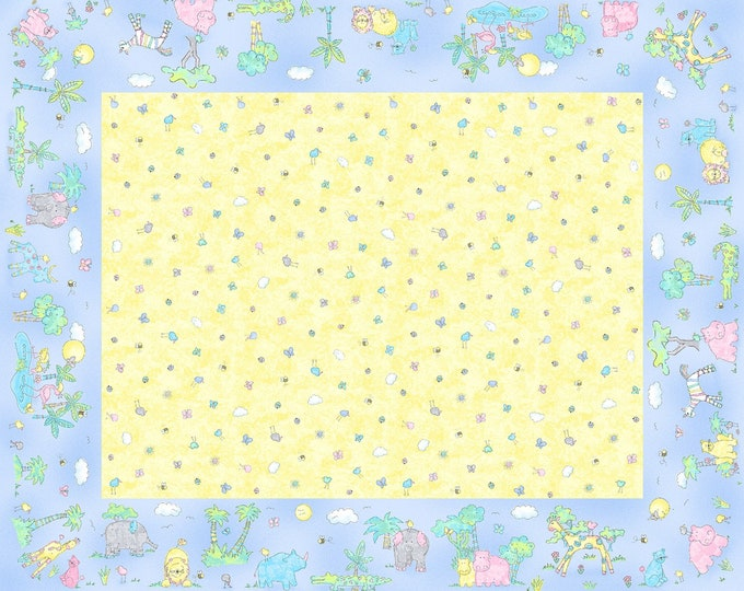 BABY FLANNEL, Two By Two Flannel Receiving Blanket Fabric 36 x 45 inches by Cheri Strole