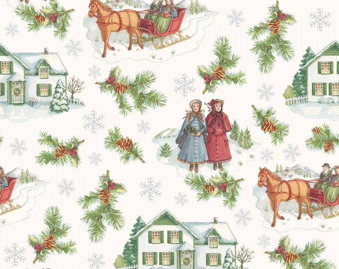 ANNE of GREEN GABLES, Winter Holiday Cotton Print by Penny Rose Fabrics for Riley Blake Designs 44 inches wide