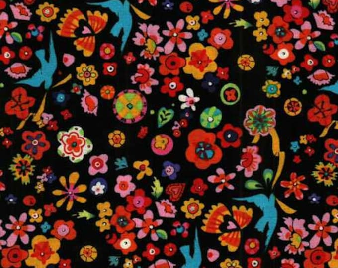 FOLKLORIC FLORAL LUPE, Cotton Fabric by Alexander Henry