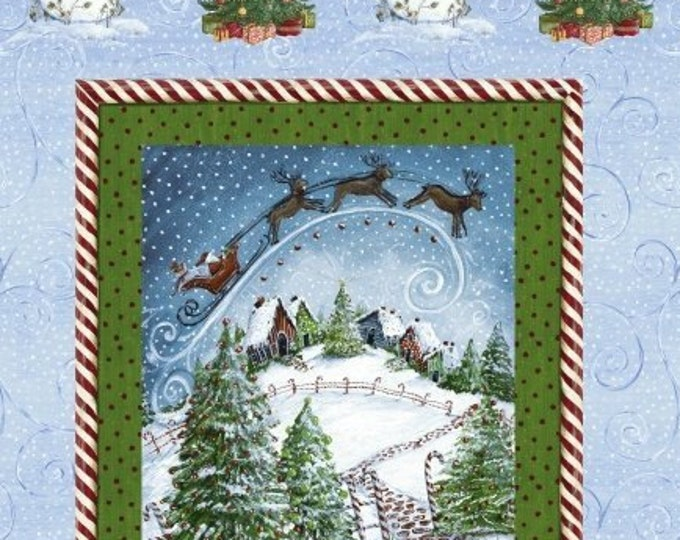 WINTER WONDERLAND HOLIDAY, Christmas Panel by Windham Fabrics 23 x 44 Inches