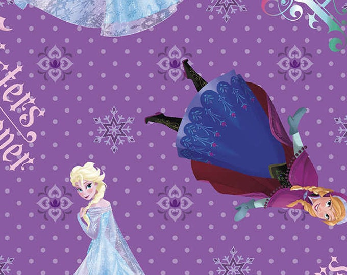 Children's Fabric from Disney Frozen Sisters Forever Fabric.  100% cotton by Springs Creative.