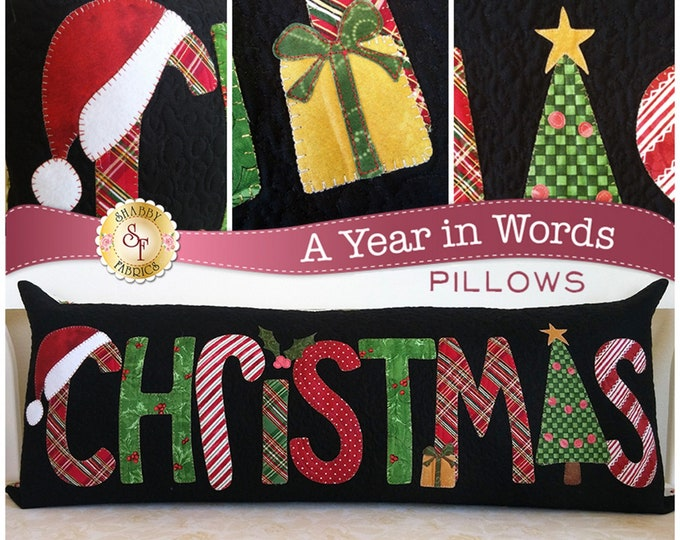 A Year In Words Christmas Pillow Pattern by Shabby Fabrics