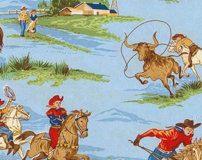 WESTERN COWBOY COTTON,  Fabric by Robert Kaufman