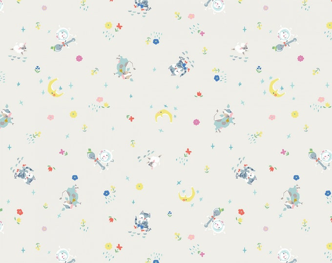 ONCE UPON RHYME, Hey Diddle Diddle Cotton Children's Fabric by Riley Black 43-44 Inches