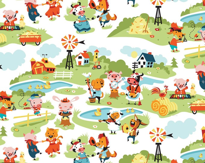 HARMONY FARM, Children's Cotton Fabric by Riley Blake Designs 44 inches wide