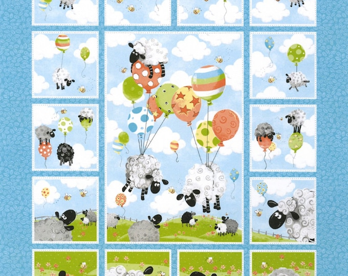 LEWES BALLOONS PANEL by Susybee Collections from Henry Glass 36 x 43