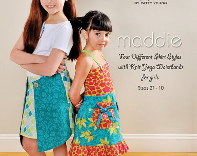 Children's Dress Pattern, Modkid Maddie Skirt Patterns size 2T-10 by Patty Young