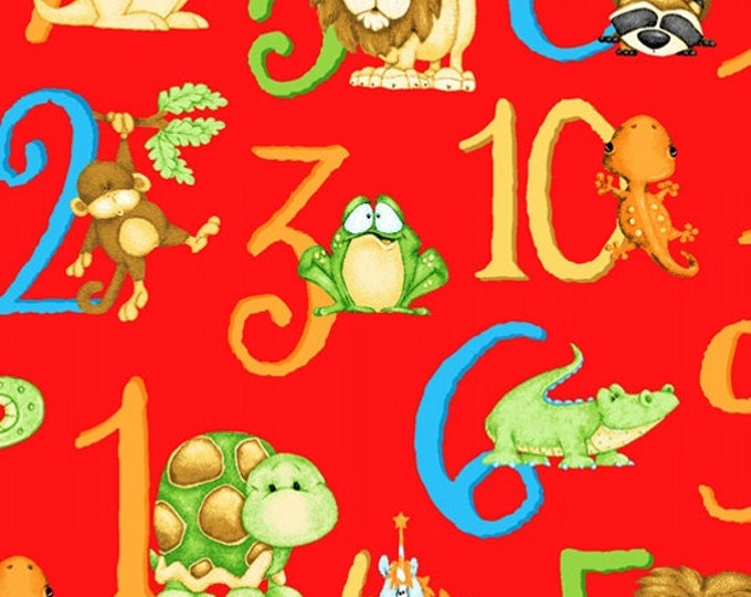 ABC 123 fabric,  Numbers themed children's fabric by Shelly Comiskey for Henry Glass