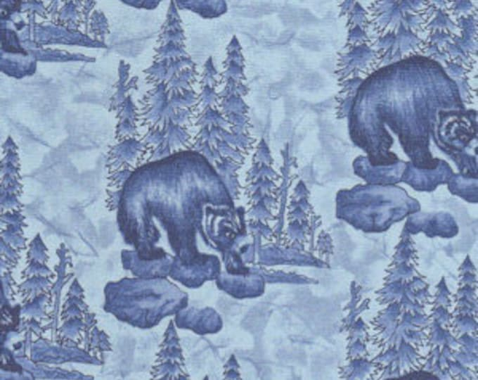 WOODS, WATER and WILDLIFE bears in the woods wildlife fabric.